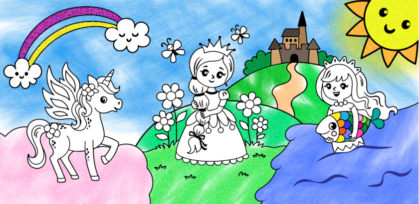Coloring book for baby girls
