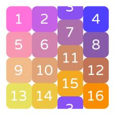 Numbers Loop - 2d rubik's cube